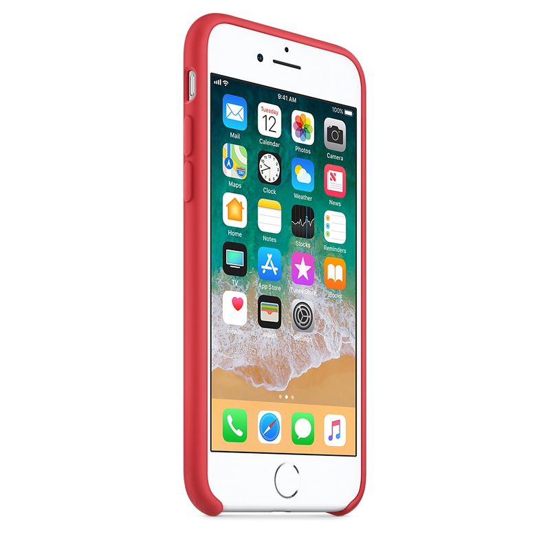 e85fc68b70b Apple Silicone Case Red Raspberry For iPhone 8/7