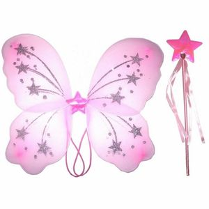 Fairy Wings Wand Hdbd Pink