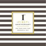 First Anniversary Stripes New