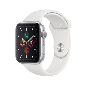 Apple Watch Series 5 GPS 44mm Silver Aluminium Case with White Sport Band S/M & M/L