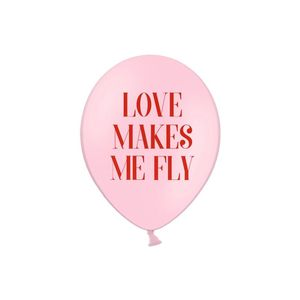 Balloons 30 cm Love Makes Me Fly Pastelbaby Pink 1 Pkt 50 Pc.