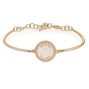 Be My Angel Stainless Steel Bracelet with Rose Gold Pvd and Swarovski Crystals