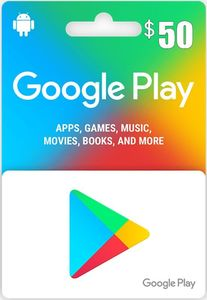 Google Play 50 Us Store