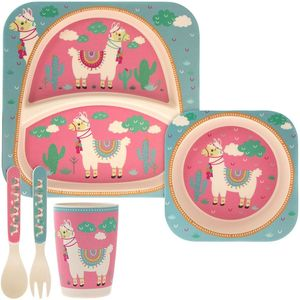 Bamboo Eco Eating Set Llama