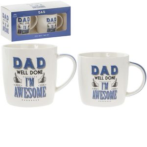 Dad L'M Awesome Mugs 2 Set