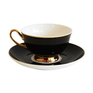 Bombay Duck Teacup & Saucer Jet Black