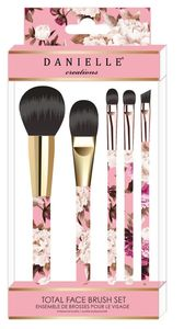 Vintage Floral 5 Piece Total Face Brushset Blus