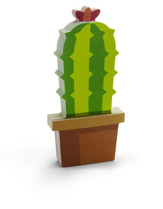 Mustard Cactus Shaped Sticky Notes [150 Sheets]