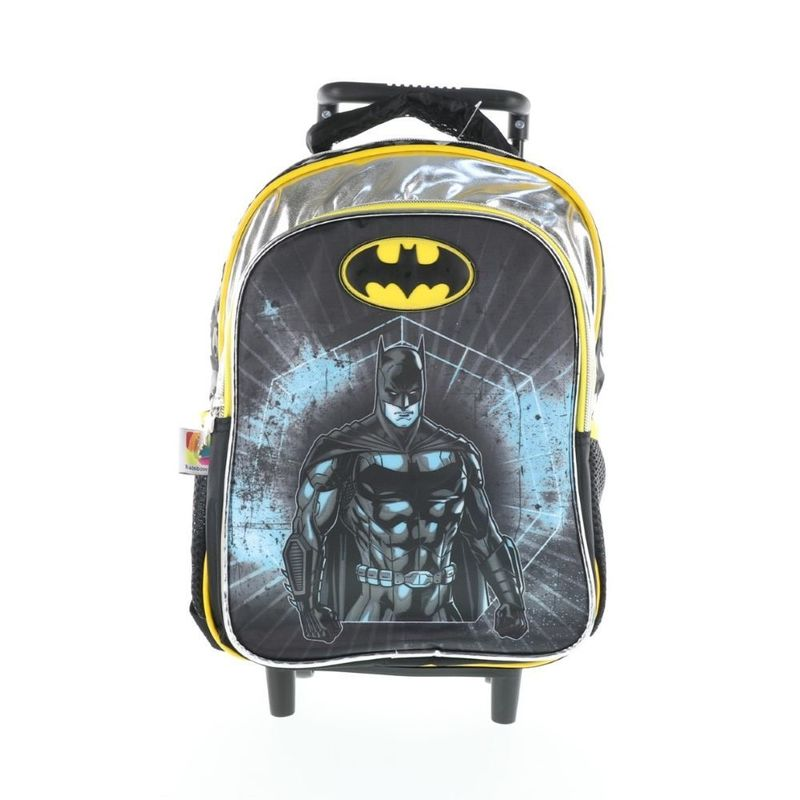 Batman Trolley Bag 2 Main Compartments And 2 Side Pockets 13