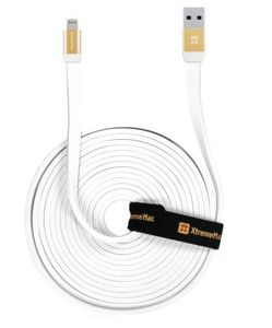 Xtrememac Extra Long Cable 3M White Gold