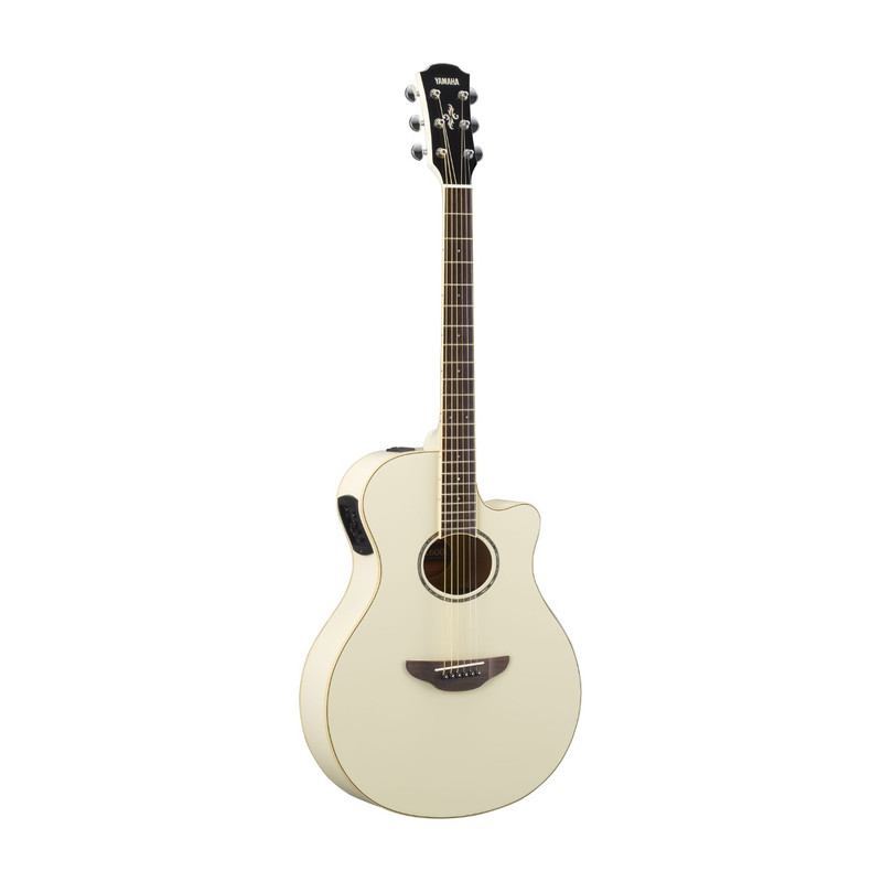 yamaha apx600 electric acoustic guitar vintage white acoustic classical guitars guitars. Black Bedroom Furniture Sets. Home Design Ideas