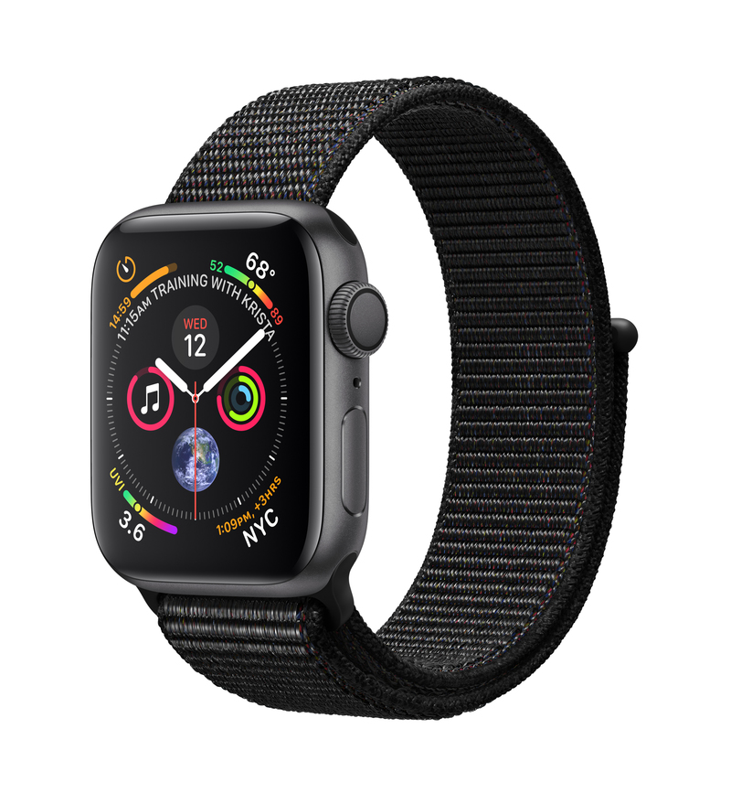 Apple Watch Series 4 GPS 40mm Space Grey Aluminium Case with Black Sport Loop