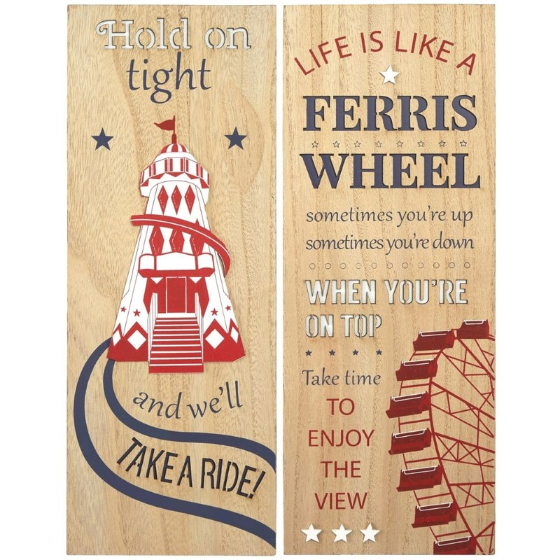 3d wooden fairground sign