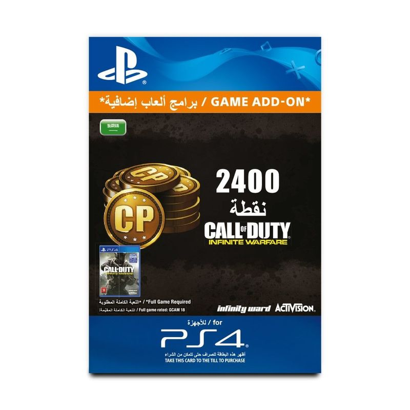 Call Of Duty Infinite Warfare 2,400 Points [Digital Code]