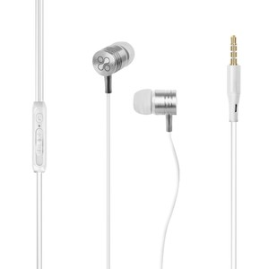 Promate Inear Noise Isolation Earphone Microphone White