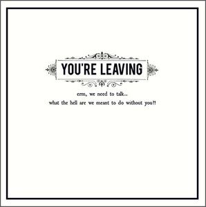 Pigment Alice Scott Leaving We Need To Talk Greeting Card