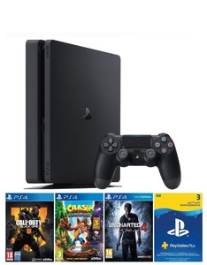 Playstation 4 500Gb Hits Bundle [Call Of Duty + Black Ops 4 + Crash Uncharted 4]