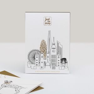 Just Add Stamp Notecards Set of 6 London