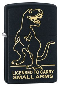 ZIPPO LIGHTER 29629 218 LICENSED TO CARRY DESIGN