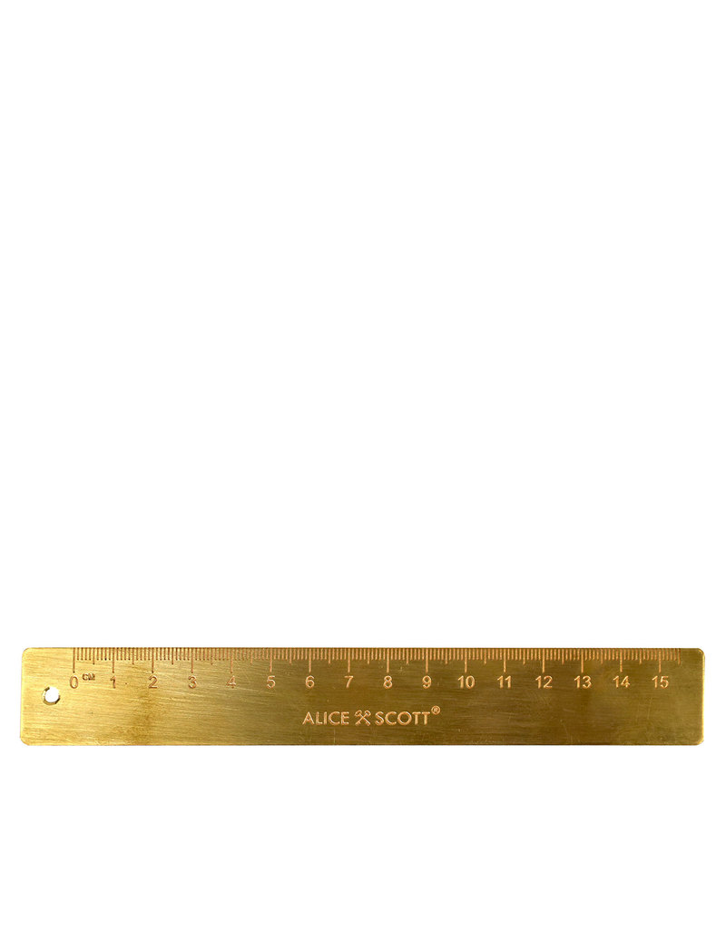 Alice Scott Brass Gold Metal Ruler