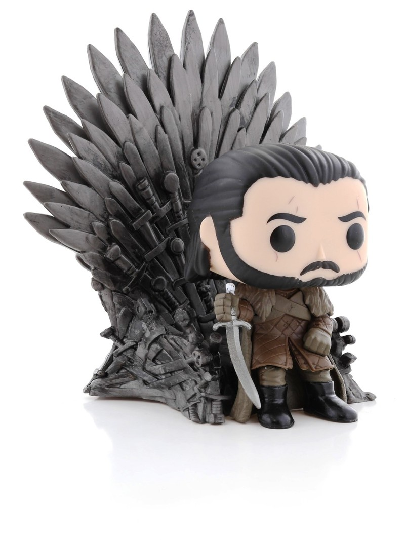FUNKO: POP Jon Snow Sitting on Iron Throne PO Deluxe: Game of Thrones S10
