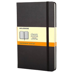 Moleskine Notebook Large Ruled Black Hard