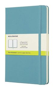 Moleskine 8058341715383 Notebook Large Plain Hard Cover Reef Blue