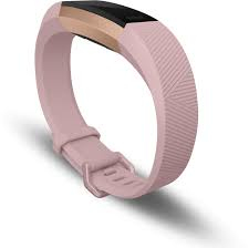 Fitbit Alta Hr Soft Pink/22K Rose Gold Heart Rate+ Fitness Wristband [Large]