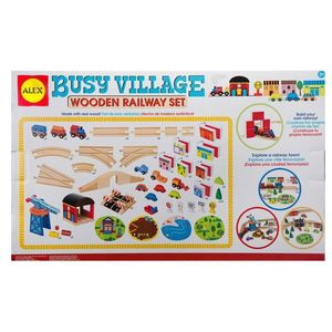BUSY VILLAGE WOODEN RAILWAY