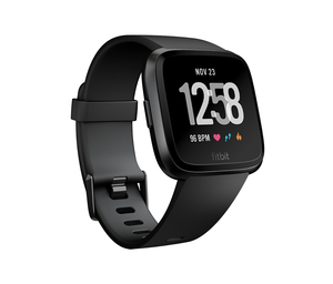 Fitbit Versa Black/Black Aluminum Smart Watch