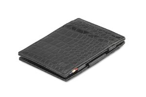 Garzini Essenziale Magic Wallet Croco Black