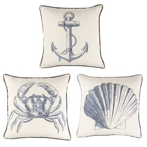 Vintage Sea Cushion With Inner