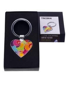 Troika Heart Shape W/Token For Shopping Trolley Keyring