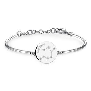Bracelet With Engraved Zodiac Swarovski