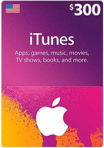 Itunes Giftcard 300 Us Store