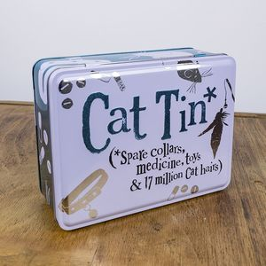 The Bright Side Give Me Treats Cat Tin