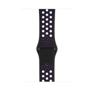 Apple 44Mm Black/Hyper Grape Nike Sport Band – S/M & M/L