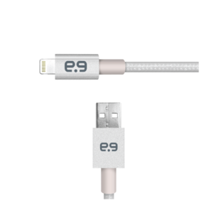 PUREGEAR USB 2.0 SILVER LIGHTNING CABLE 1.2M