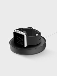 Uniq Dome Black Charging Dock with Cable Organiser for Apple Watch