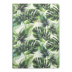 Go Stationery Tropical Leaf Week To View 2018-2019 A5 Diary