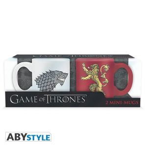 Game Of Thrones Espresso Mugs 100 Ml Stark & Lannister [Set Of 2]
