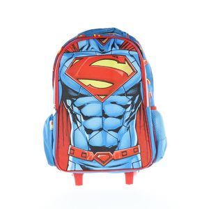 Superman Trolley Bag 2 Main Compartments And 2 Side Pockets 18 3D Muscle