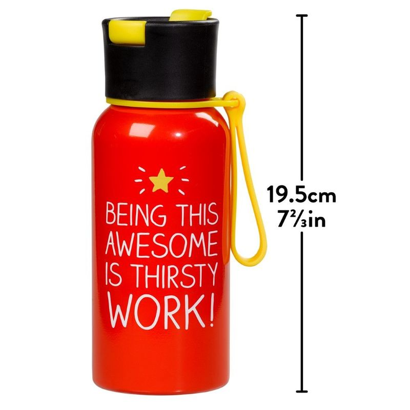 Happy Jackson Being This Awesome Is Thirsty Work Red Water Bottle 600ml
