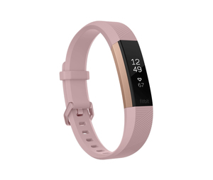 Fitbit Alta HR Soft Pink/22K Rose Gold Heart Rate+ Fitness Wristband [Small]