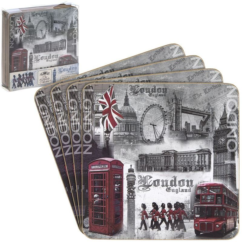 London coasters set 4