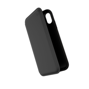 Speck Presidio Folio Leather Case Black/Black for iPhone XR
