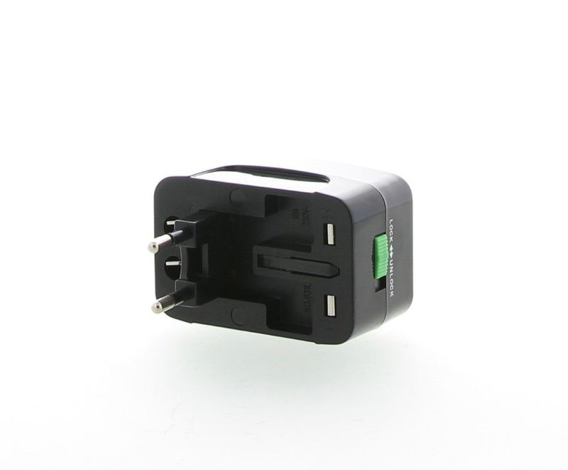 Mira Accessories Universal Travel Black Adapter