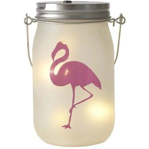 Led Flamingo Jam Jar