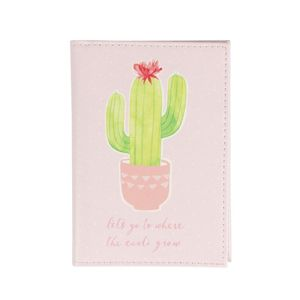 Pastel Cactus Passport Holder