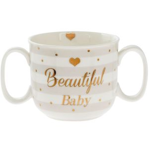 Mad Dots Baby Dbl Handle Mug